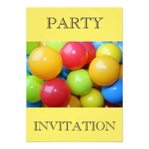 Invitación coloreada plástico del fiesta de las bo
