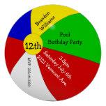 Invitación colorida de la fiesta de cumpleaños de
