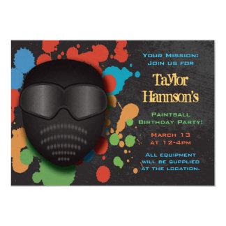 Invitación colorida de la fiesta de cumpleaños de invitación 12,7 x 17,8 cm
