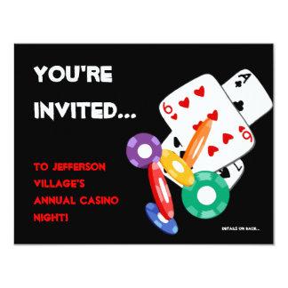 Invitación colorida de la noche del casino de