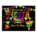 Invitación colorida de la postal de Cinco De Mayo