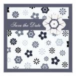 Invitación colorida de las flores del bígaro invitación 13,3 cm x 13,3cm