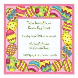 Invitación colorida de los huevos de Pascua