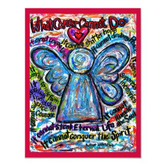 Invitación colorida del ángel del cáncer