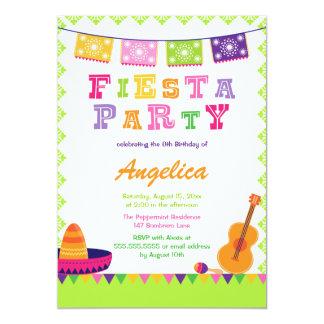 Invitación colorida del cumpleaños del fiesta de