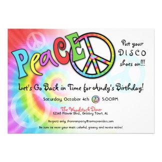 Invitación colorida del fiesta de la PAZ