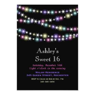 Invitación colorida del fiesta del dulce 16 de las