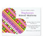 Invitación colorida del fiesta del dulce 16 de los