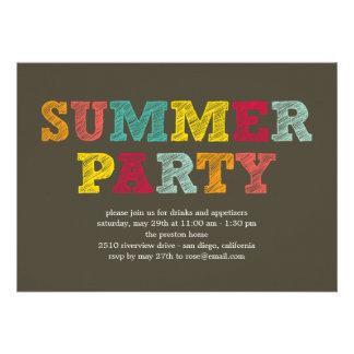 Invitación colorida del fiesta del verano