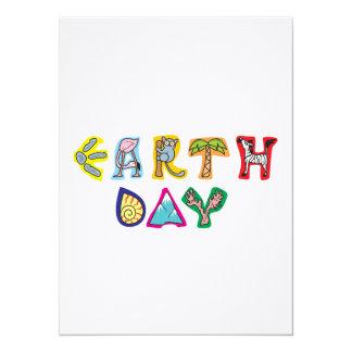 Invitación colorida fresca del Día de la Tierra Invitación 13,9 X 19,0 Cm