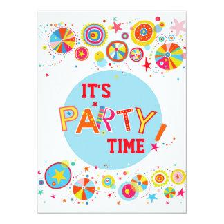 Invitación colorida maravillosa del fiesta invitación 13,9 x 19,0 cm