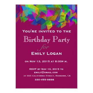 Invitación colorida personalizada del rompecabezas