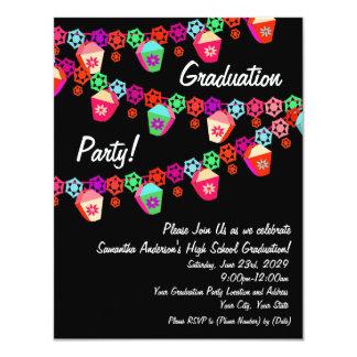 Invitación colorida rosada de la fiesta de