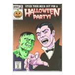 Invitación cómica del fiesta de Halloween del horr