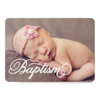 Invitación completa del bautismo de la escritura
