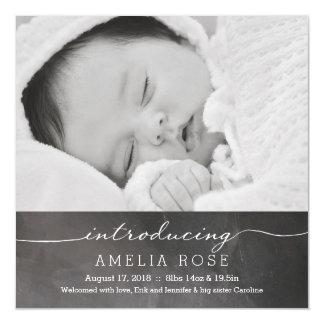 Invitación completa del bebé de la foto de la invitaciones magnéticas