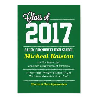 Invitación con clase de la graduación