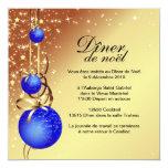Invitación con clase de la tarjeta de Navidad