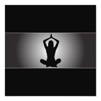 Invitación con clase de la yoga