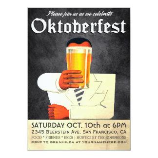 Invitación con clase de Oktoberfest del vintage