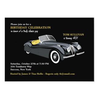 Invitación con clase del coche de deportes invitación 12,7 x 17,8 cm