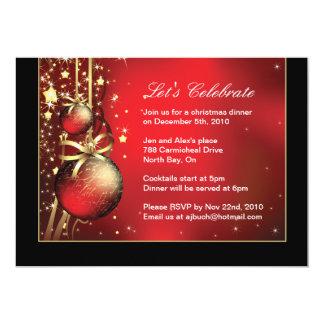 Invitación con clase del fiesta de cena de navidad