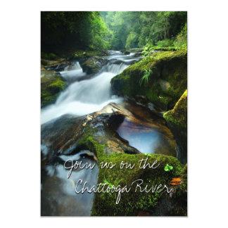 Invitación con el río hermoso de Chattooga