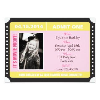 Invitación con la foto - rosa amarillo del estilo
