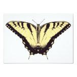 Invitación con la mariposa amarilla invitación 12,7 x 17,8 cm