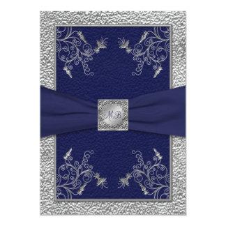 Invitación con monograma del boda de la marina de
