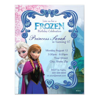 Invitación congelada del cumpleaños invitación 10,8 x 13,9 cm