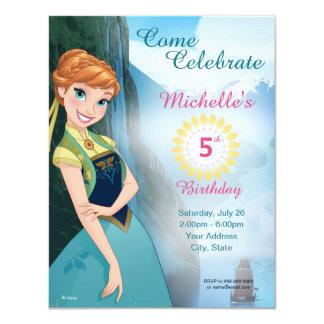 Invitación congelada del cumpleaños de Ana