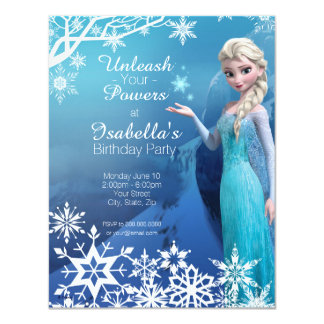 Invitación congelada del cumpleaños de Elsa Invitación 10,8 X 13,9 Cm