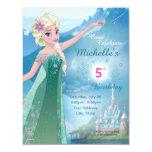 Invitación congelada del cumpleaños de Elsa