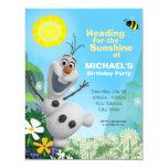 Invitación congelada del cumpleaños de Olaf del