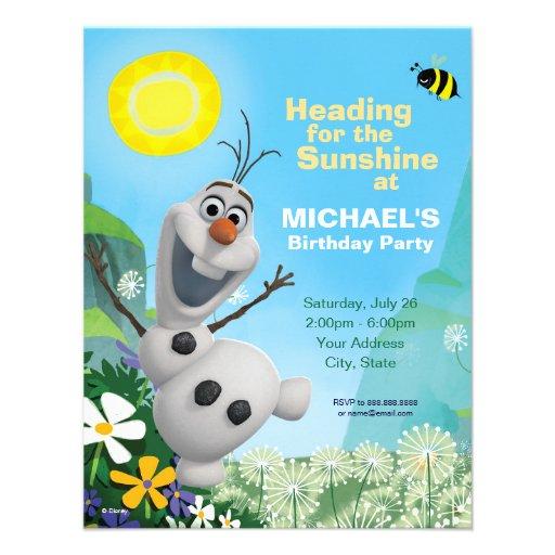 Invitación congelada del cumpleaños de Olaf del ve