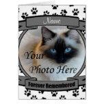 Invitación conmemorativa del gato - recordada para tarjetón