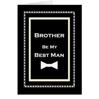 Invitación conocida de encargo del boda del hombre tarjeta