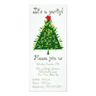 Invitación contemporánea de la fiesta de Navidad