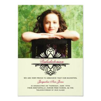 Invitación contraria de la graduación de la foto invitación 12,7 x 17,8 cm