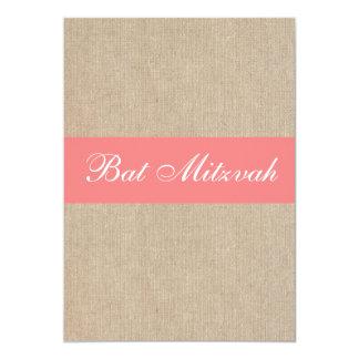 Invitación coralina de Mitzvah del palo de la Invitación 12,7 X 17,8 Cm