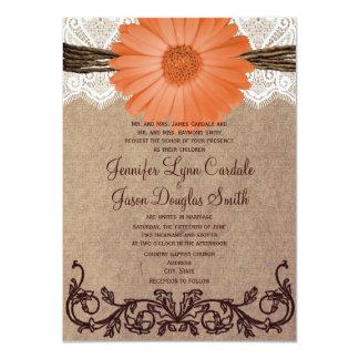 Invitación coralina del boda de la flor de la