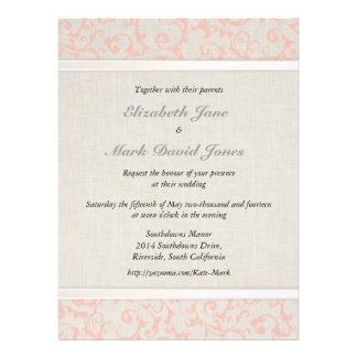 Invitación coralina del boda de SmartElegance
