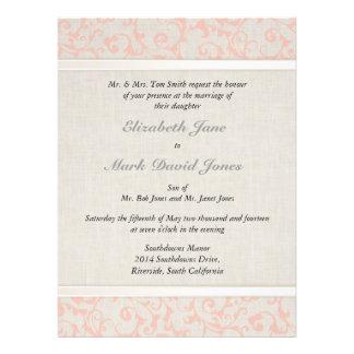Invitación coralina del boda de SmartElegance p
