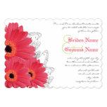 Invitación coralina y anaranjada del boda de la invitación 12,7 x 17,8 cm