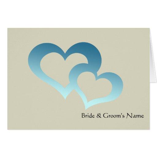 Invitación - corazones tarjeta