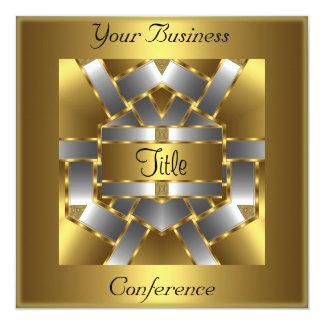 Invitación corporativa de la conferencia de plata