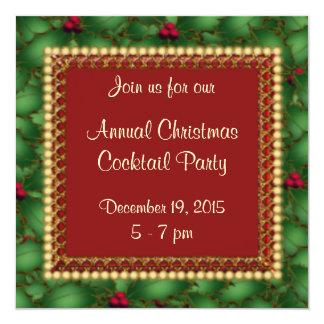 Invitación corporativa de la fiesta de Navidad