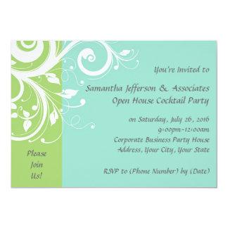 Invitación corporativa del fiesta del remolino