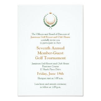 Invitación corporativa del torneo del golf